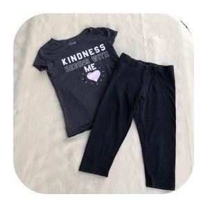 6/$15 7/8 Wonder Nation T-shirt & legging
